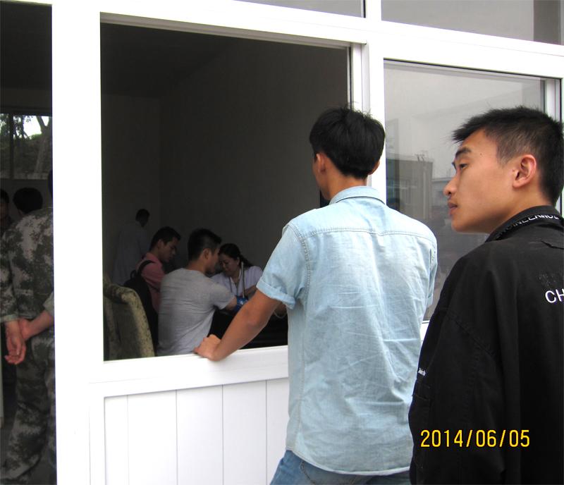 青岛市市北区征兵办率先组织大学生初审初检